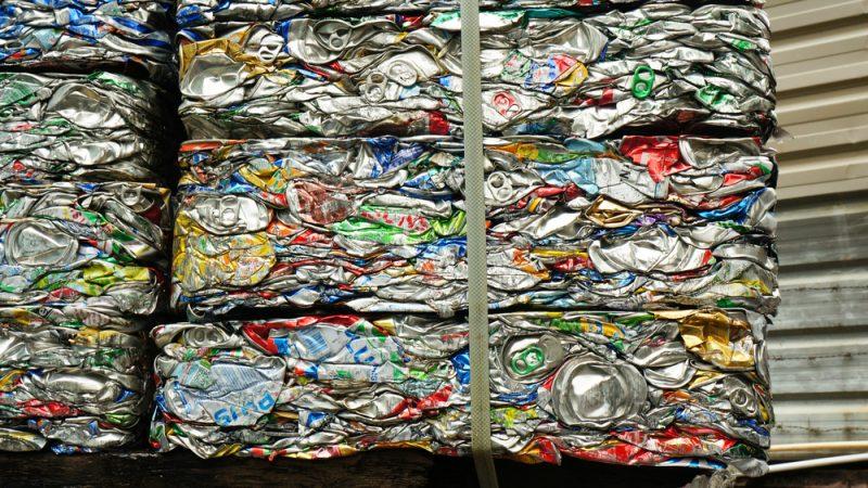 Aluminum Cans compressed